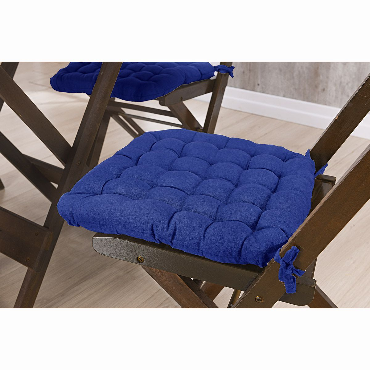 Assento P/ Cadeira - Futton - Kalamar - 40cm x 40cm - Marinho - Niazitex