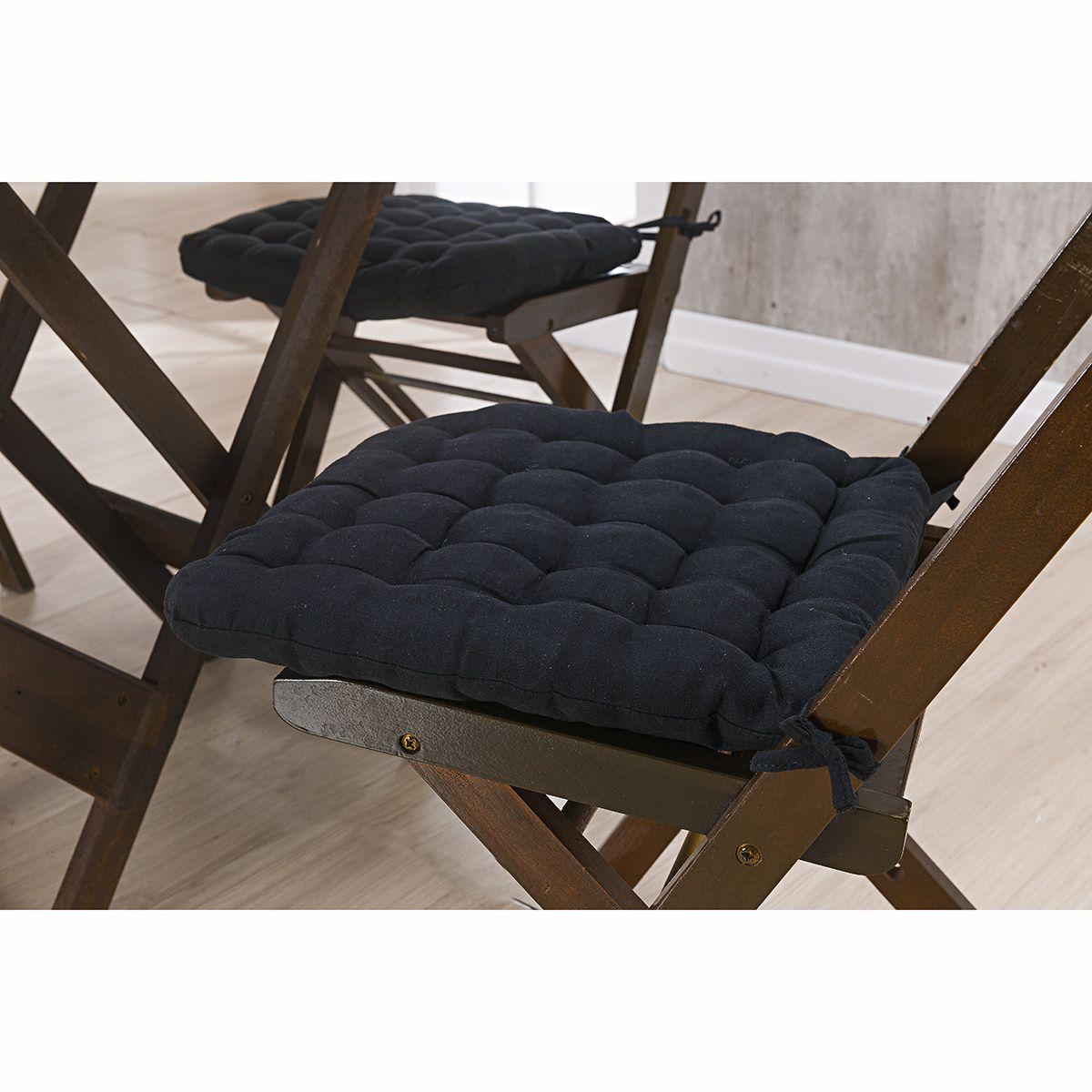 Assento P/ Cadeira - Futton - Kalamar - 40cm x 40cm - Preto - Niazitex