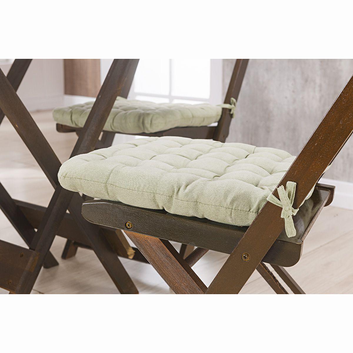 Assento P/ Cadeira - Futton - Kalamar - 40cm x 40cm - Verde - Niazitex