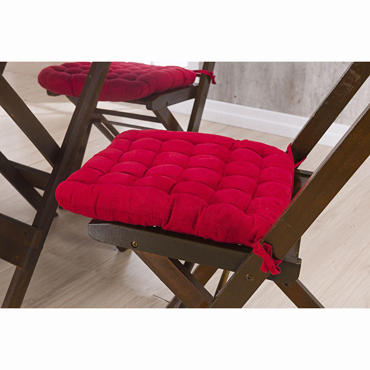 Assento P/ Cadeira - Futton - Kalamar - 40cm x 40cm - Vermelho - Niazitex