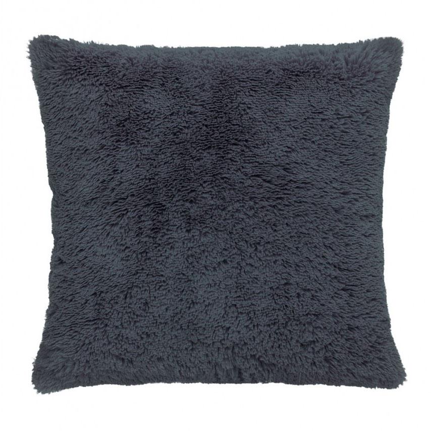 Capa de Almofada - Baby Soft - Pelúcia - 45cm x 45cm - Cinza  - Adomes