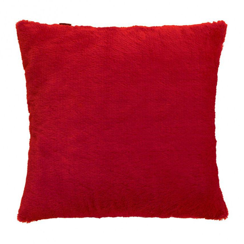 Capa de Almofada - Baby Soft - Pelúcia - 45cm x 45cm - Vermelha - Adomes