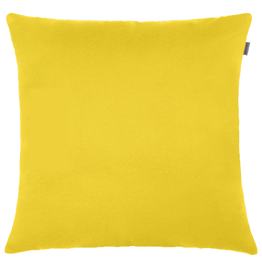 Capa de Almofada - Jacquard Liso - Amarelo  - Adomes