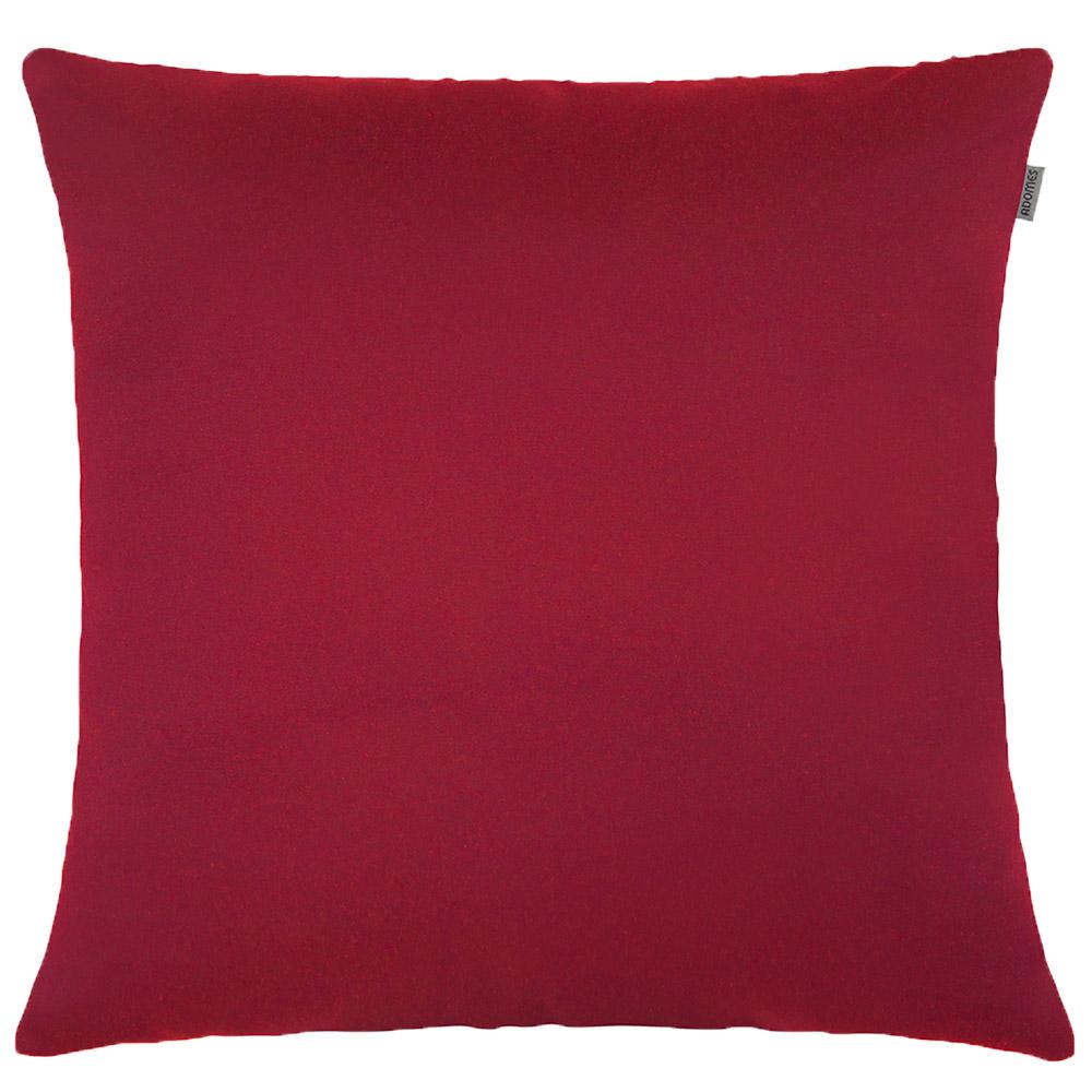 Capa de Almofada - Jacquard Liso - Vermelho  - Adomes