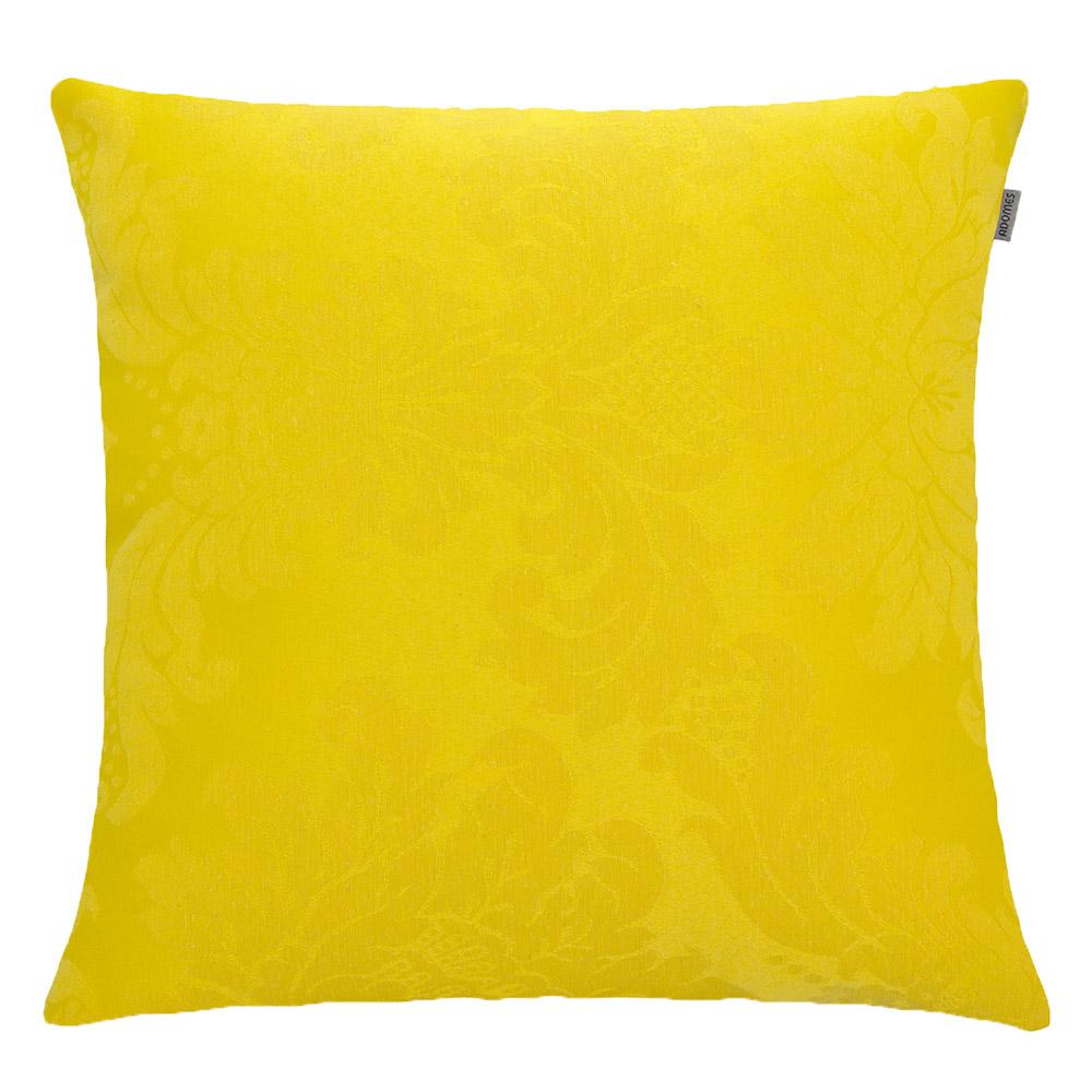 Capa de Almofada - Jacquard Medalhão - Amarelo  - Adomes