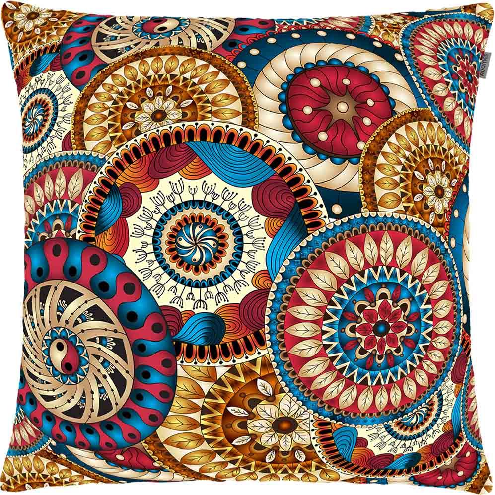 Capa de Almofada - Patch Arte - Mandala - 45cm x 45cm - Adomes