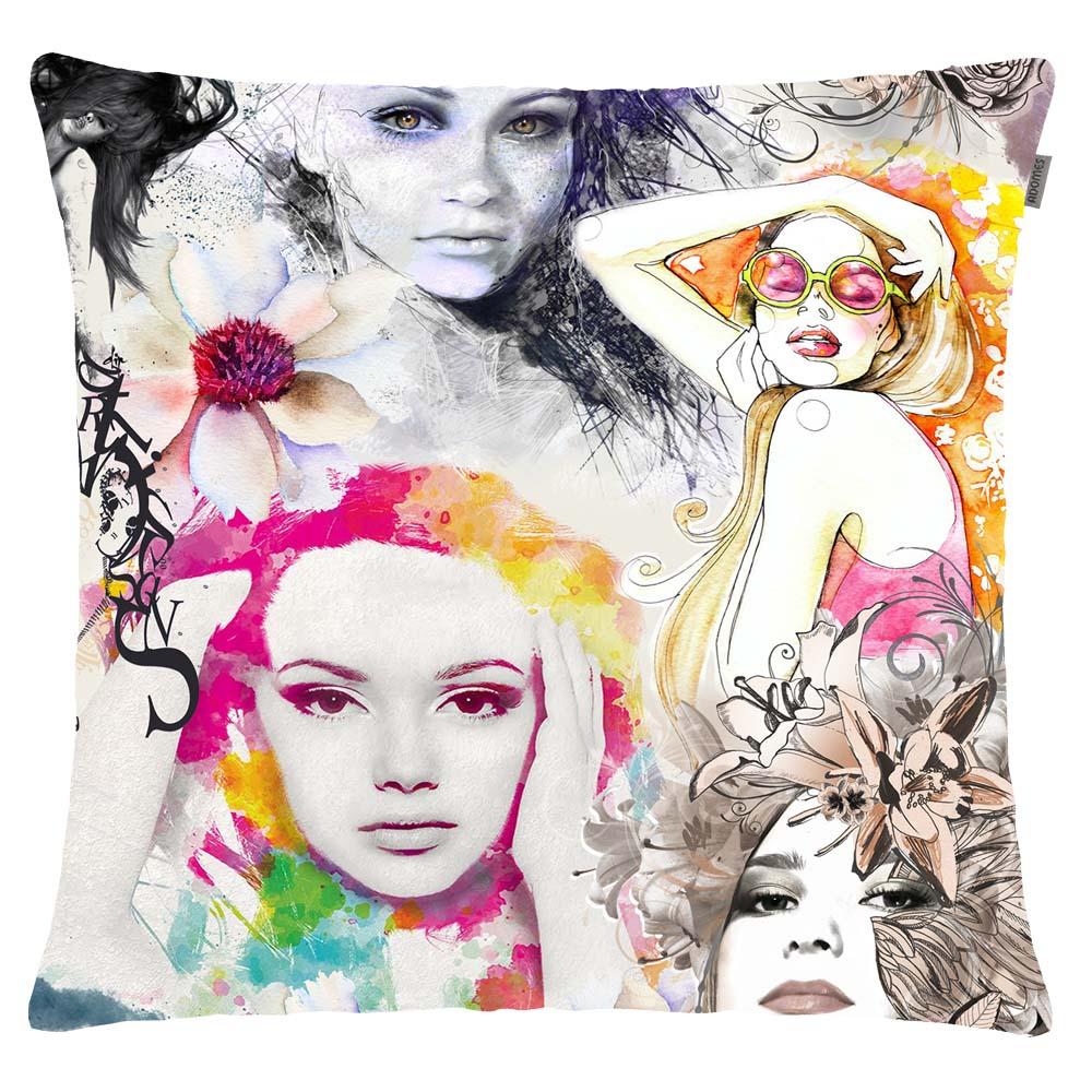 Capa de Almofada - Twister - Faces - Adomes