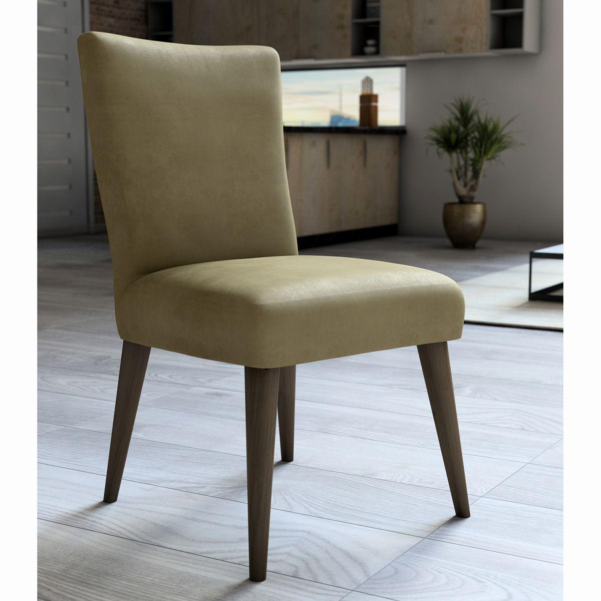 Capa P/ Cadeira - Luxo - Veludo - Bege - Adomes