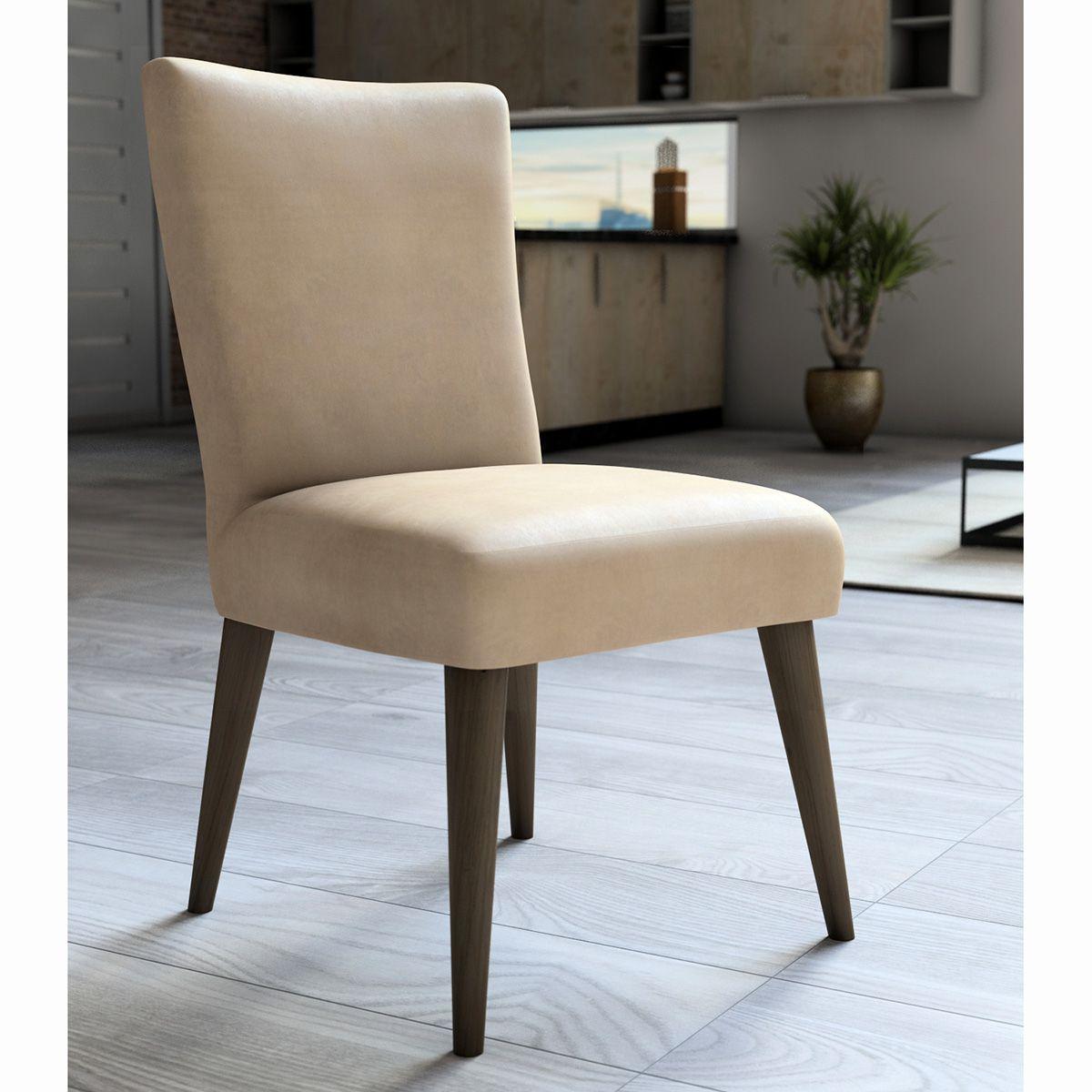 Capa P/ Cadeira - Luxo - Veludo - Champanhe - Adomes