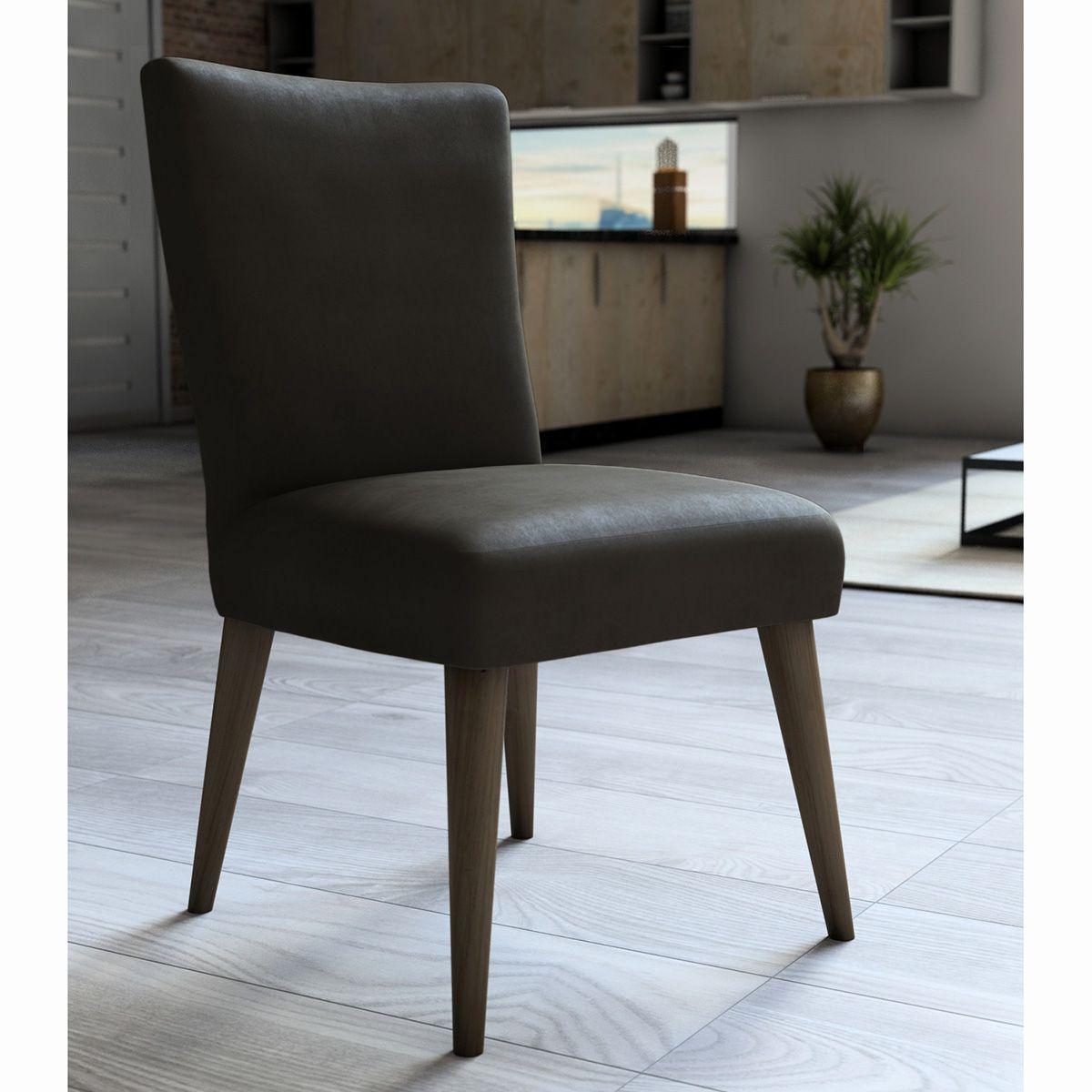 Capa P/ Cadeira - Luxo - Veludo - Marrom - Adomes
