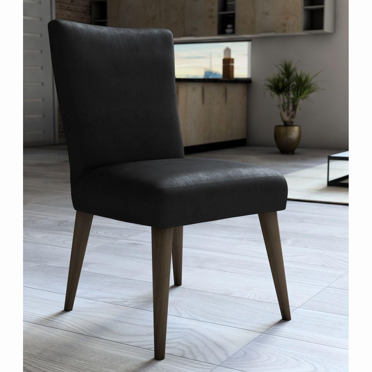 Capa P/ Cadeira - Luxo - Veludo - Preto - Adomes