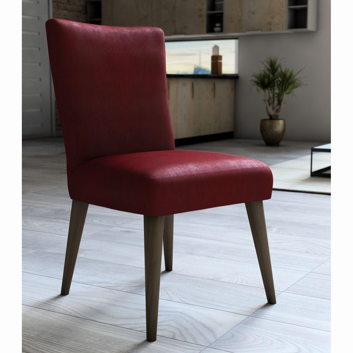 Capa P/ Cadeira - Luxo - Veludo - Vermelho - Adomes