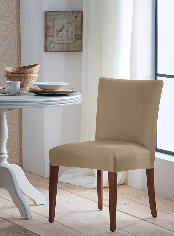 Capa P/ Cadeira - Malha - Bege  - Adomes
