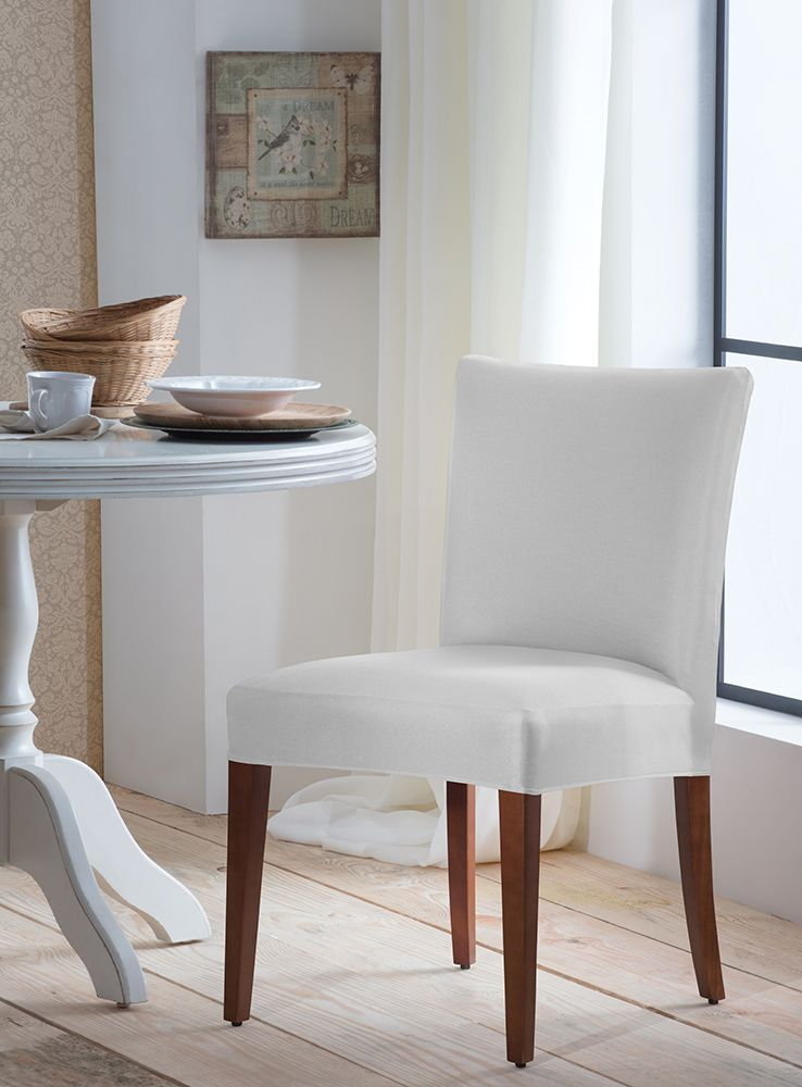 Capa P/ Cadeira - Malha - Branco  - Adomes