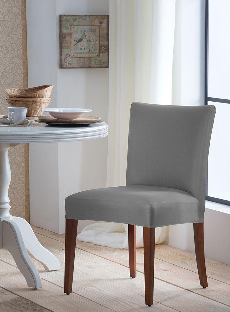 Capa P/ Cadeira - Malha - Cinza  - Adomes