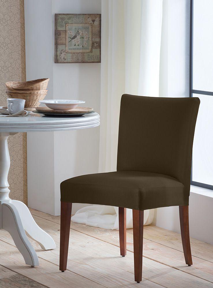 Capa P/ Cadeira - Malha - Marrom  - Adomes