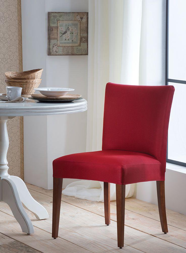 Capa P/ Cadeira - Malha - Vermelho - Adomes