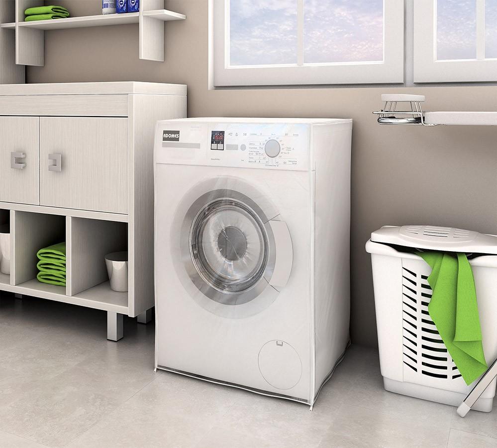Capa P/ Máquina de Lavar C/ Abertura Frontal - 7Kg a 10Kg - Adomes
