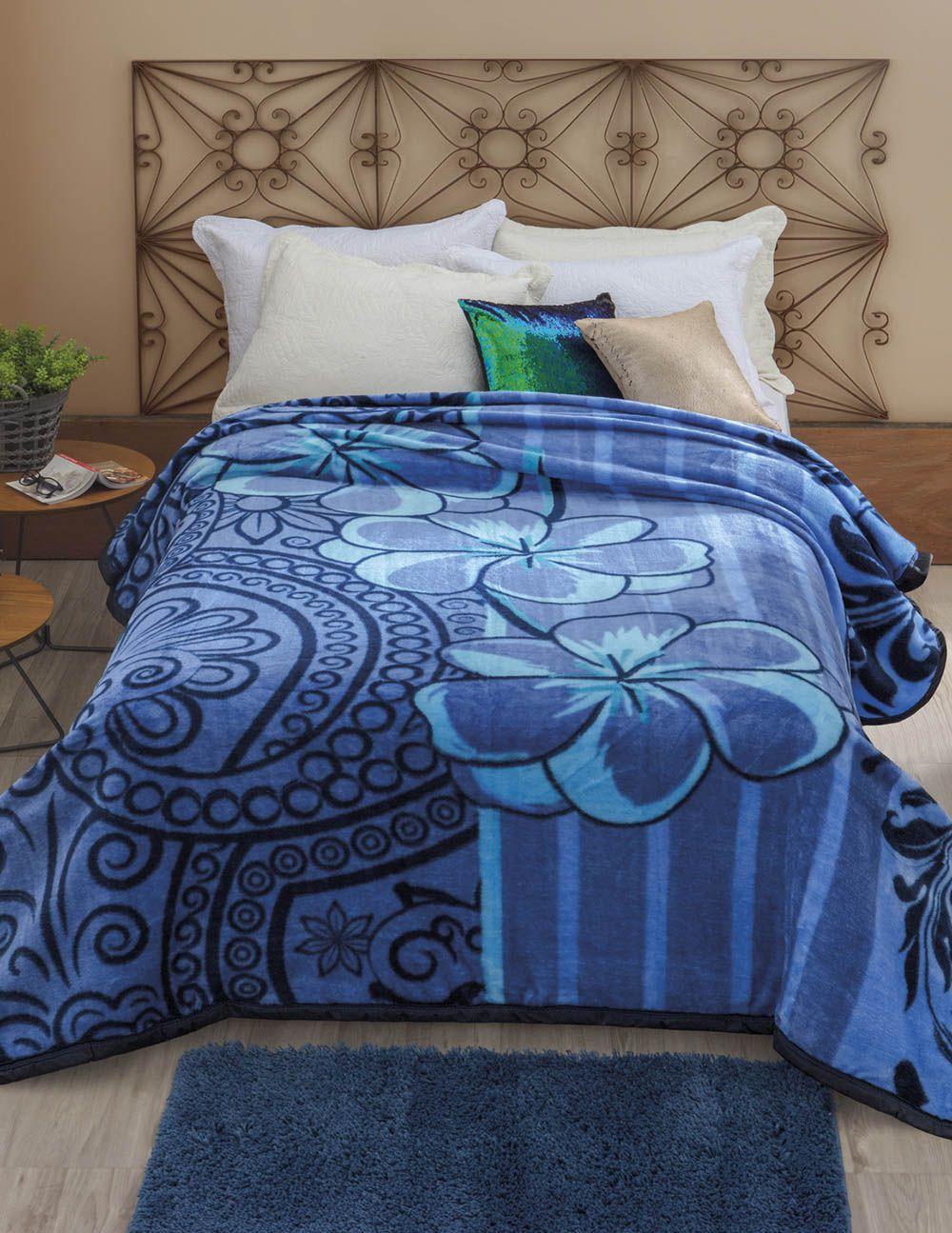Cobertor Dyuri - Casal - Nuria - Azul - Jolitex