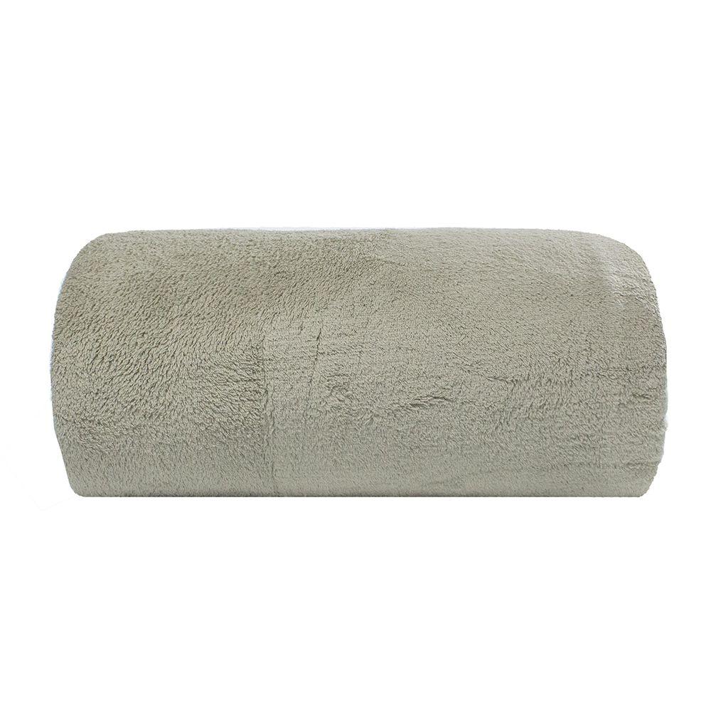 Cobertor Microfibra - Casal - Liso - Caqui - 1,80m x 2,20m - Camesa