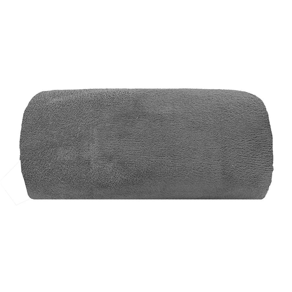 Cobertor Microfibra - Casal - Liso - Cinza - 1,80m x 2,20m - Camesa