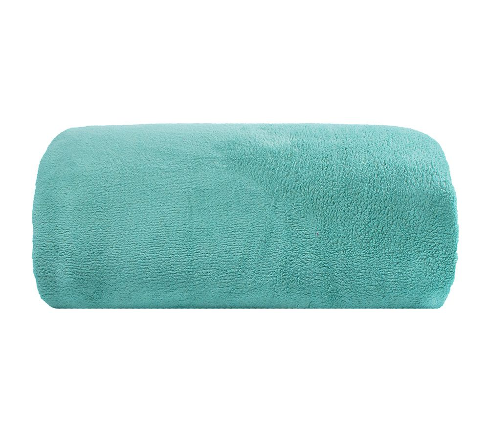 Cobertor Microfibra - Casal - Liso - Turquesa - 1,80m x 2,20m - Camesa