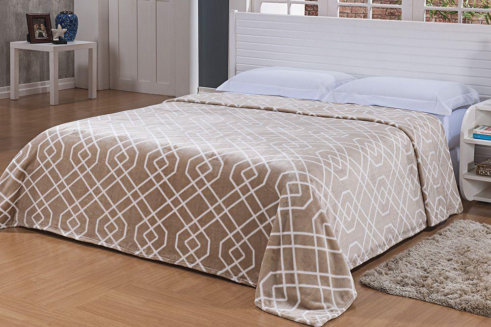 Cobertor Microfibra Estampado - Casal - Toque de Seda - Des 009 - Niazitex