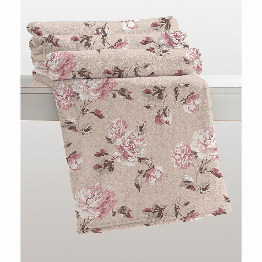 Cobertor Microfibra - Estampado - Casal - Berta - 1,80m x 2,20m - Corttex