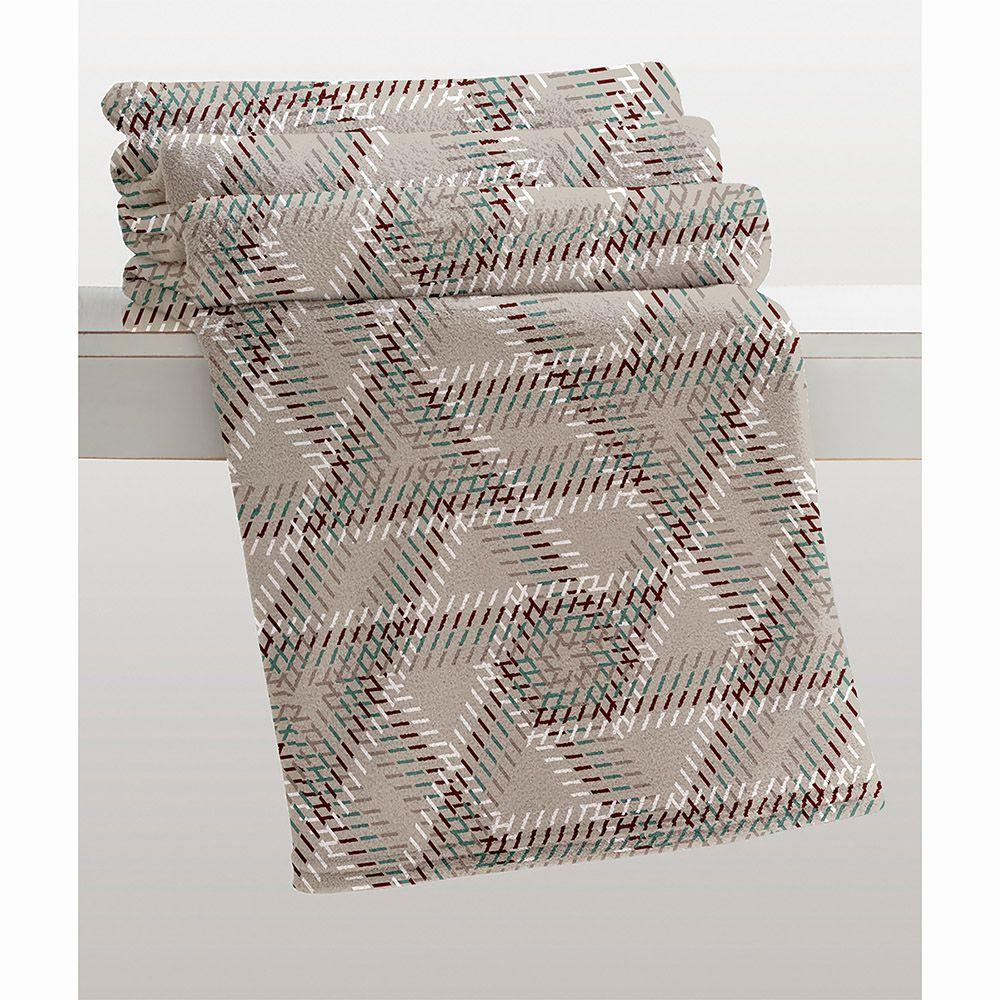 Cobertor Microfibra - Estampado - Casal - Gregor - 1,80m x 2,20m - Corttex