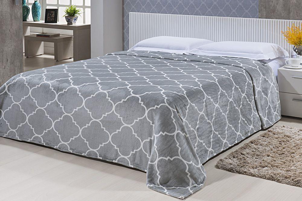 Cobertor Microfibra Estampado - Casal - Toque de Seda - Des 008 - Niazitex