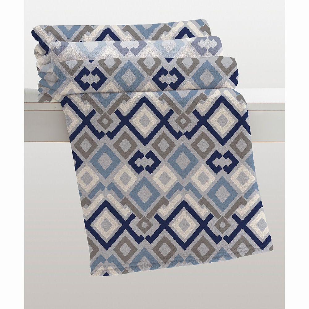 Cobertor Microfibra - Estampado - King Size - Basílio - 2,20m x 2,40m - Corttex