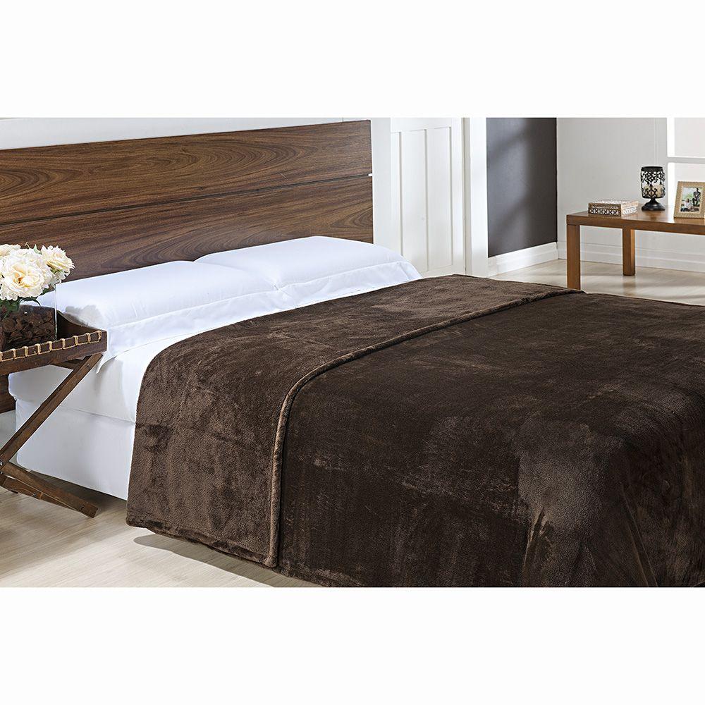 Cobertor Microfibra - King Size - Toque de Seda - Marrom - Niazitex