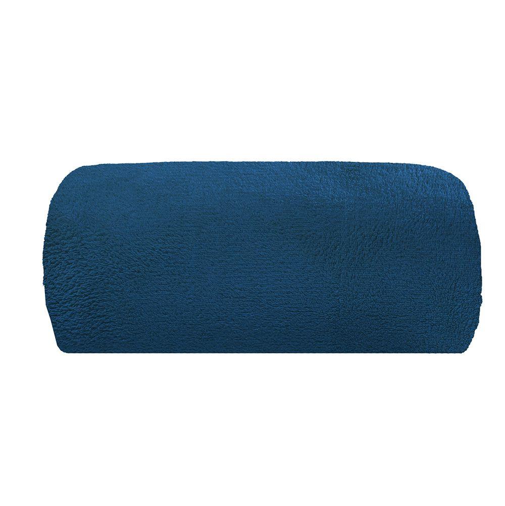 Cobertor Microfibra - Solteiro - Liso - Marinho - 1,50m x 2,00m - Camesa