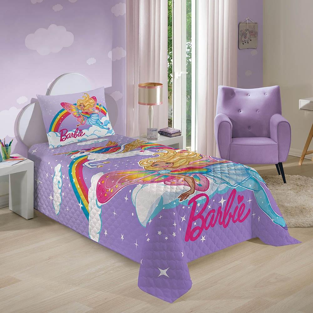 Colcha Infantil - Matelassê - Barbie Reinos Mágicos - Lepper