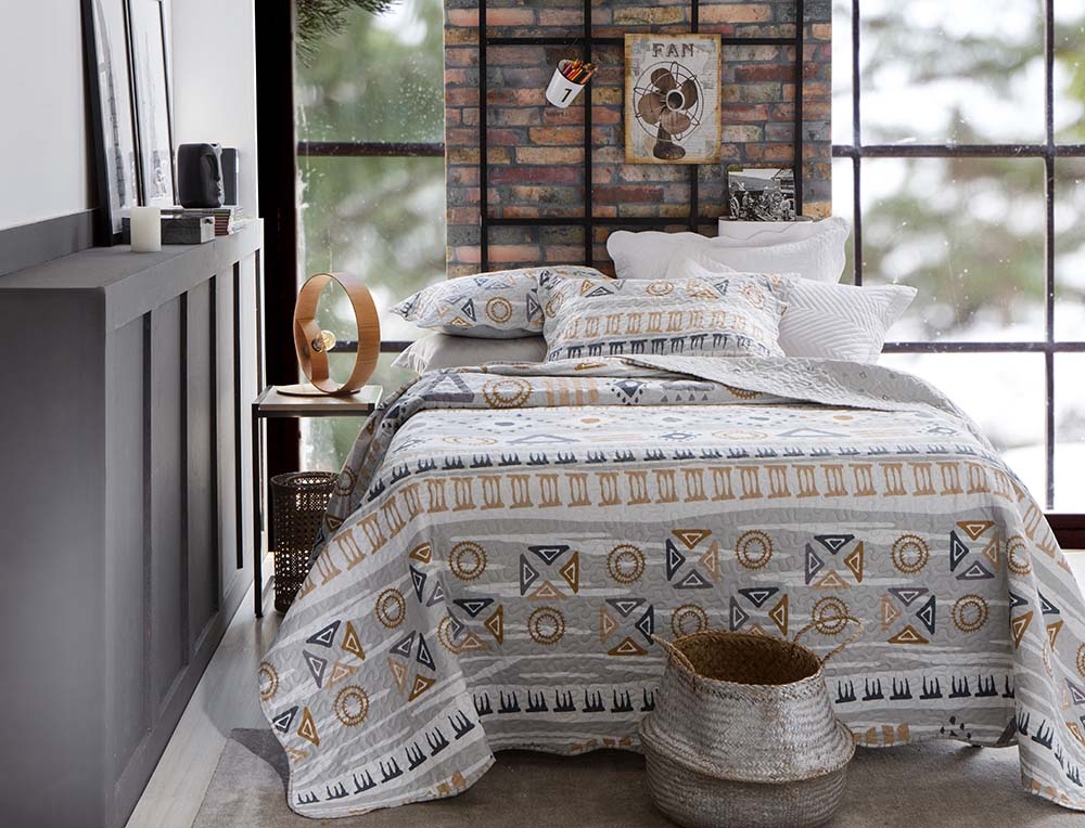 Colcha Patchwork - Queen Size - Dupla Face - C/ Porta Travesseiros - Piccadilly 3 - Rozac