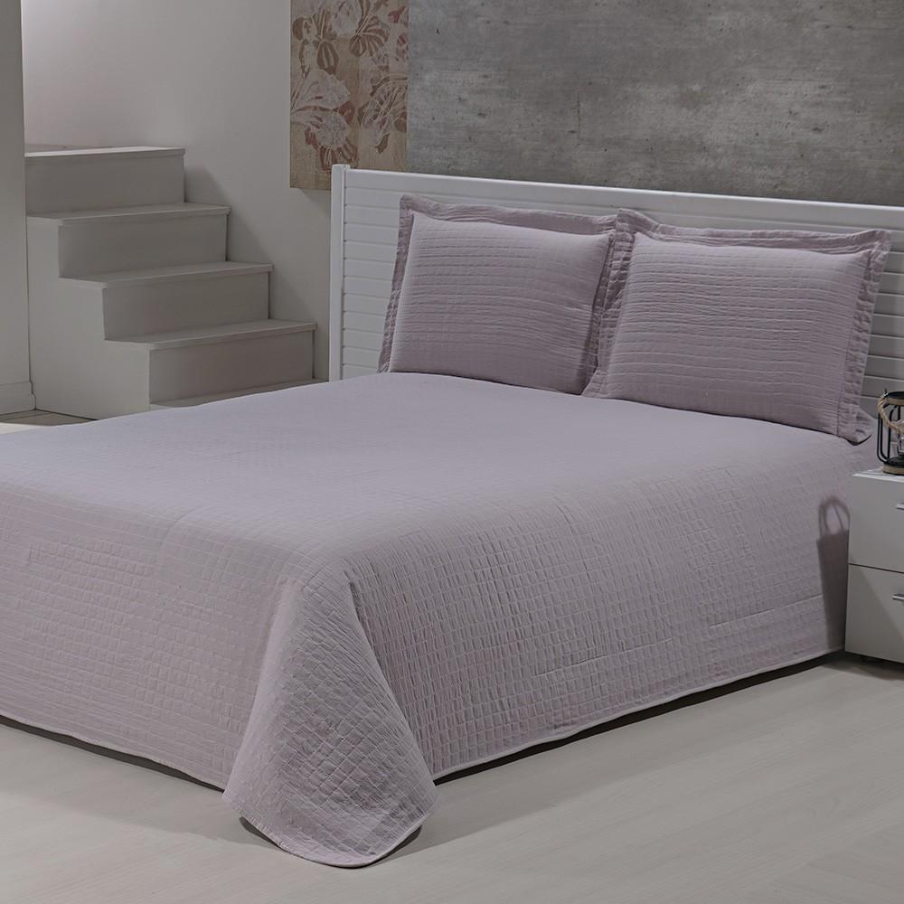 Colcha Percal Soft 300 - Casal - Bouti - C/ Porta Travesseiros - Rose - Niazitex