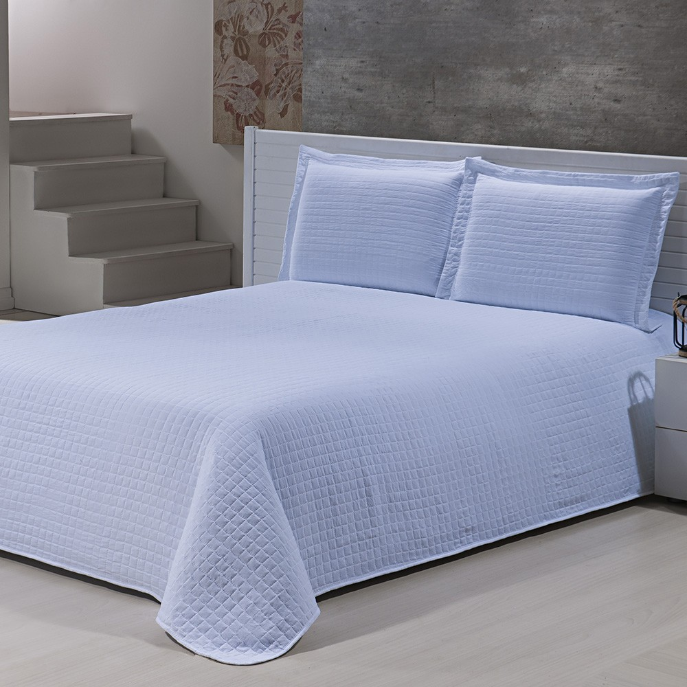 Colcha Percal Soft 300 - Queen Size - Bouti - C/ Porta Travesseiros - Branco - Niazitex