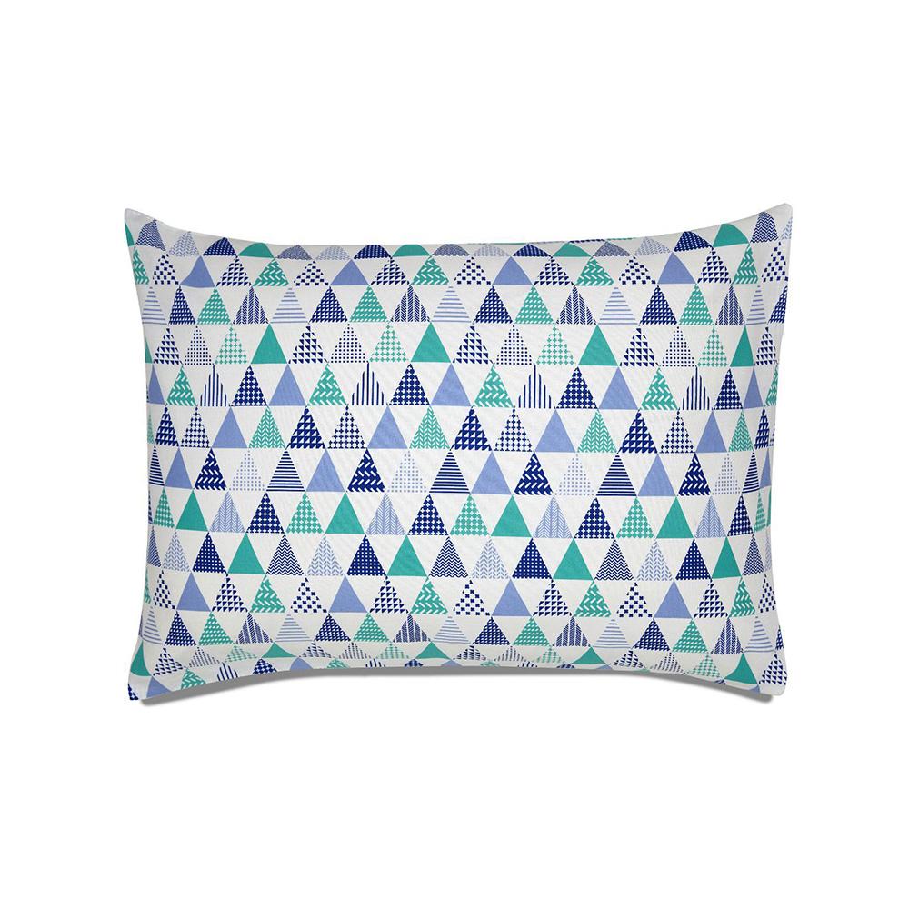 Fronha Avulsa Estampada - Royal - 100% Algodão - Santista Cor: Form Azul