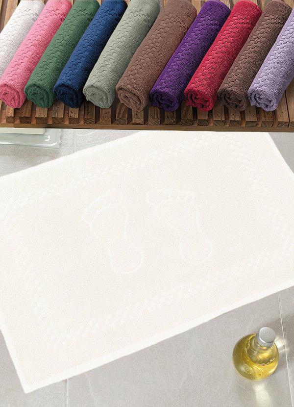 Kit C/ 10 - Toalhas P/ Piso de Banheiro - Pezinho - Branco - 100% Algodão - Appel