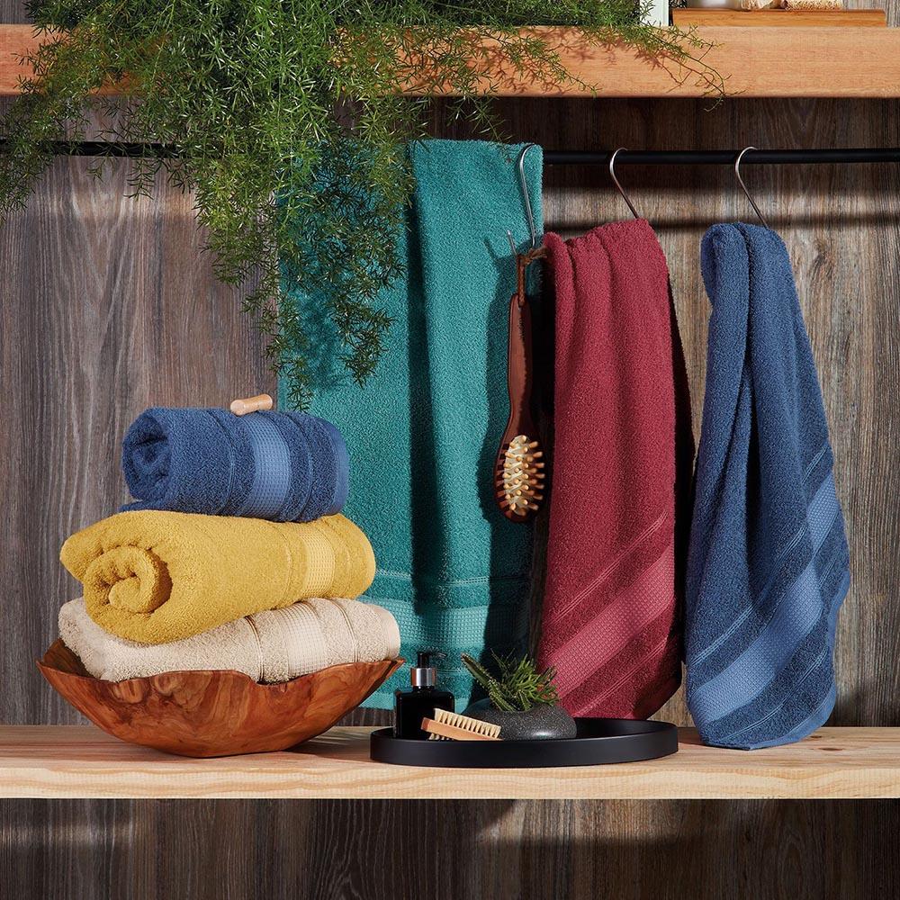 Kit C/ 5 Toalhas de Banho + 5 Toalhas de Rosto - Style - Prata - 100% Algodão - Santista