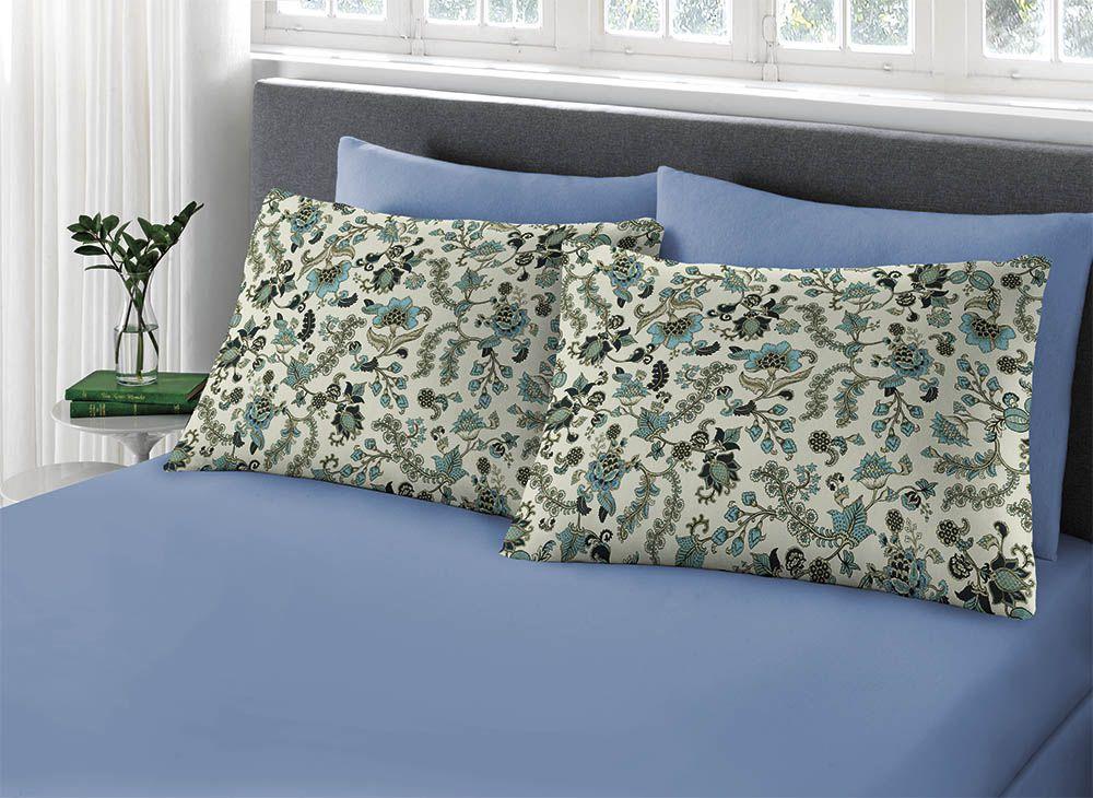 Lençol Avulso - King Size - 100% Algodão - Comfort - Azul Claro  - Sul Brasil