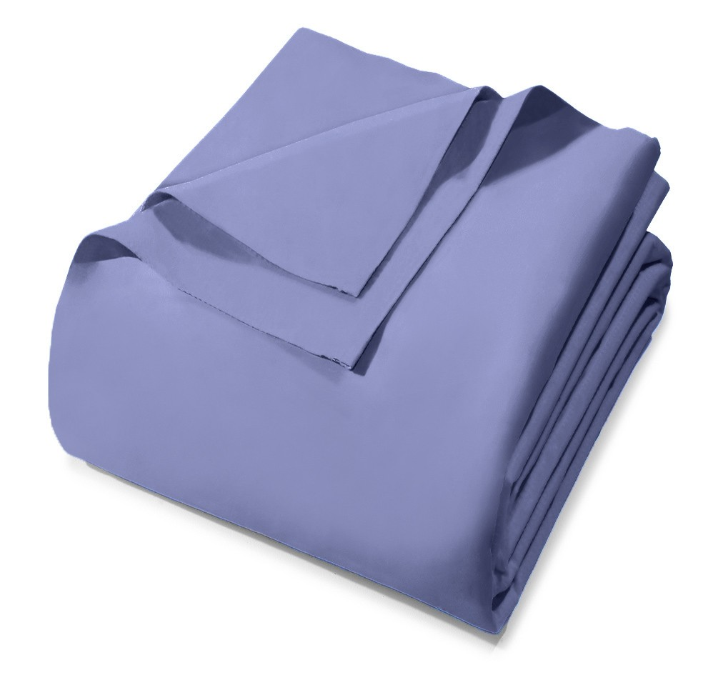 Lençol Avulso - King Size - Prata - Sem Elástico - Azul 6547 - 100% Algodão - 150 Fios - Santista