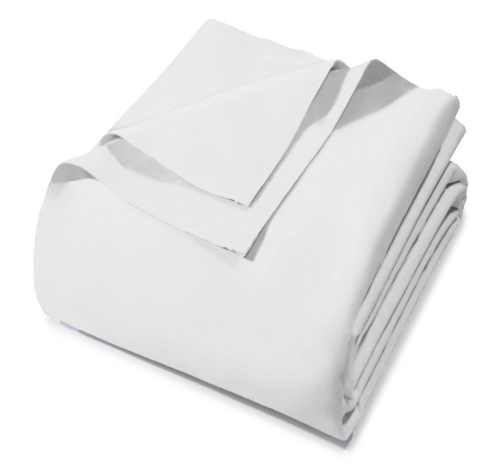 Lençol Avulso - Queen Size - Prata - Sem Elástico - Branco 0001 - 100% Algodão - 150 Fios - Santista