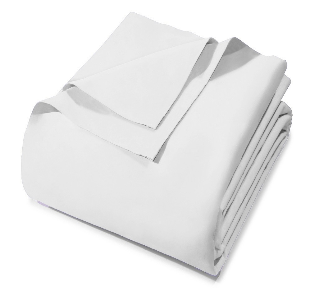 Lençol Avulso - Queen Size - Royal - Sem Elástico - Branco 0001 - 100% Algodão - Santista