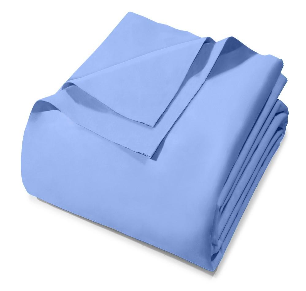 Lençol Avulso - Solteiro - Royal - Sem Elástico - Azul 6224 - 100% Algodão - Santista