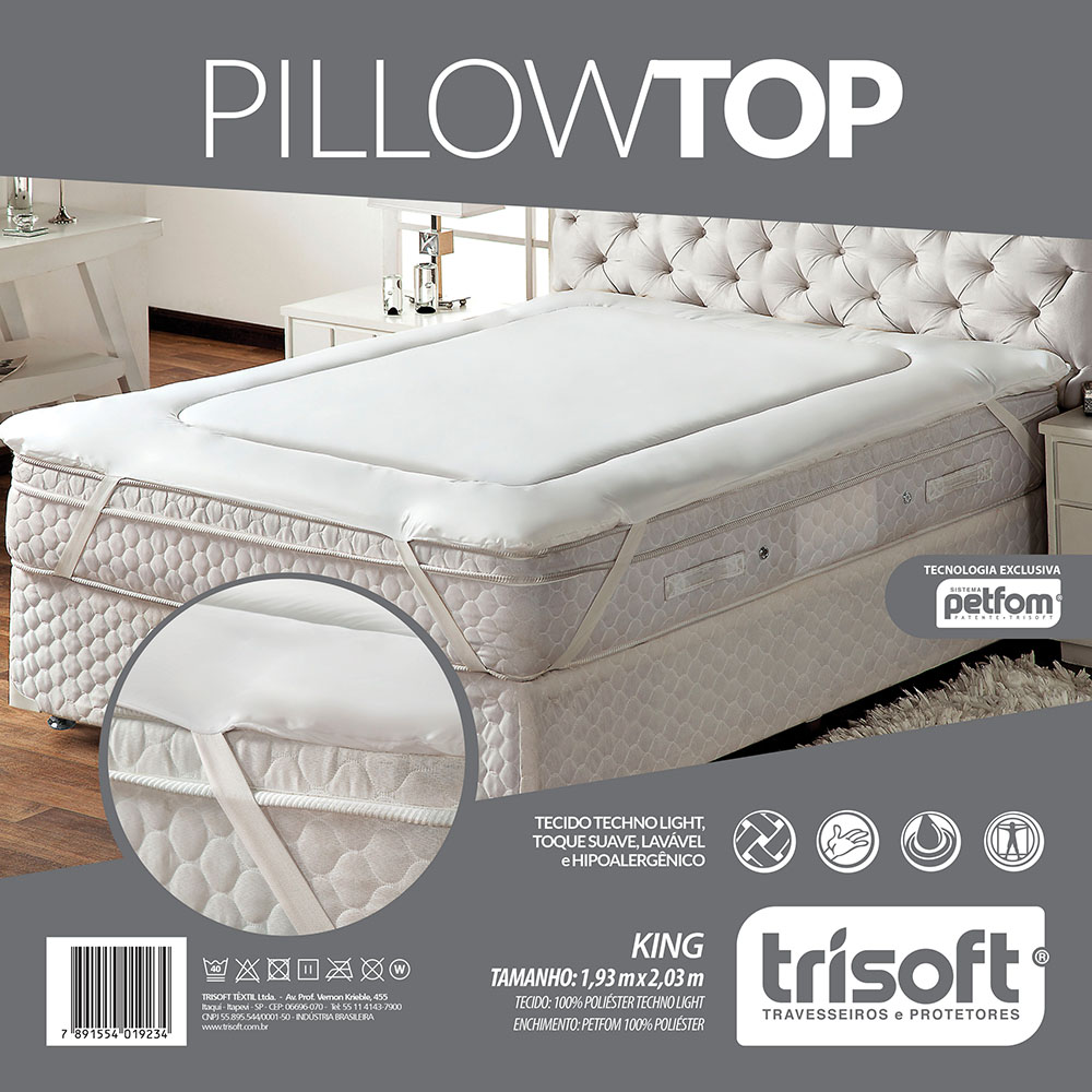 Pillow Top - King Size - 1,93m x 2,03m - Trisoft