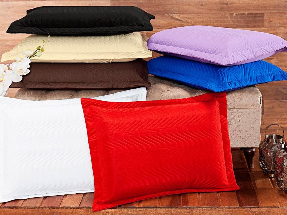 Porta Travesseiro Matelado - Microfibra - 75cm x 55cm - Enxovais Oliveira