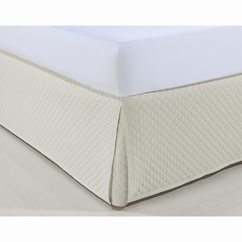 Saia P/ Cama Box - Atenas - King Size - Marfim - Niazitex