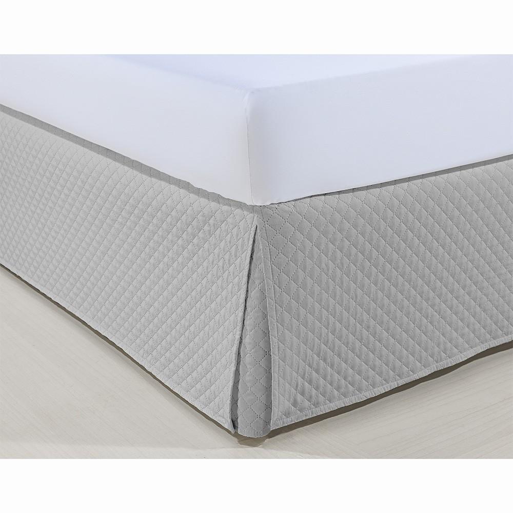 Saia P/ Cama Box - Atenas - King Size - Prata - Niazitex