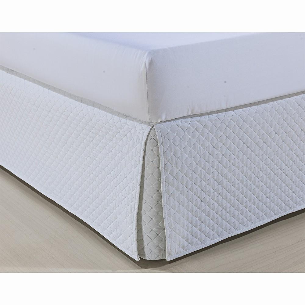 Saia P/ Cama Box - Atenas - Solteiro - Branco - Niazitex